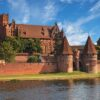 The Old Gothic castle in Malbork, Poland.